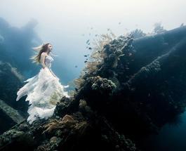 Красивые фото девушек в Индийском океане на глубине 25 метров