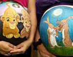 Фото: Фото беременных: сказочные рисунки на животиках будущих мам, фотографии, картинки, изображения