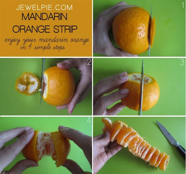 И руки чистые и чистить мандарин легко