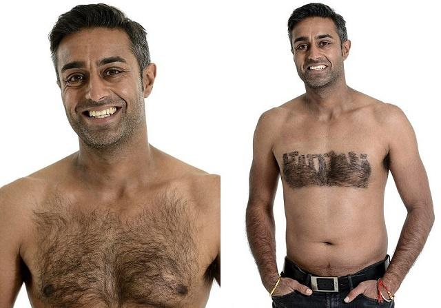 Красивая волосатая мужская грудь