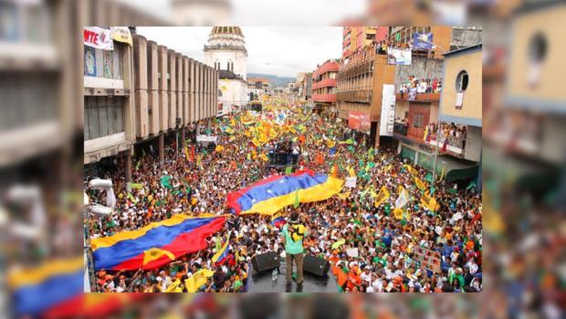 Протестующие в Венесуэле