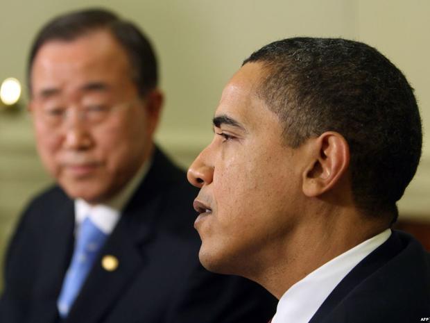 Барак Обама и генеральный секретарьООН Пан Ги Мун