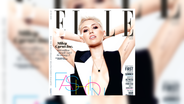 Майли Сайрус на обложке Elle
