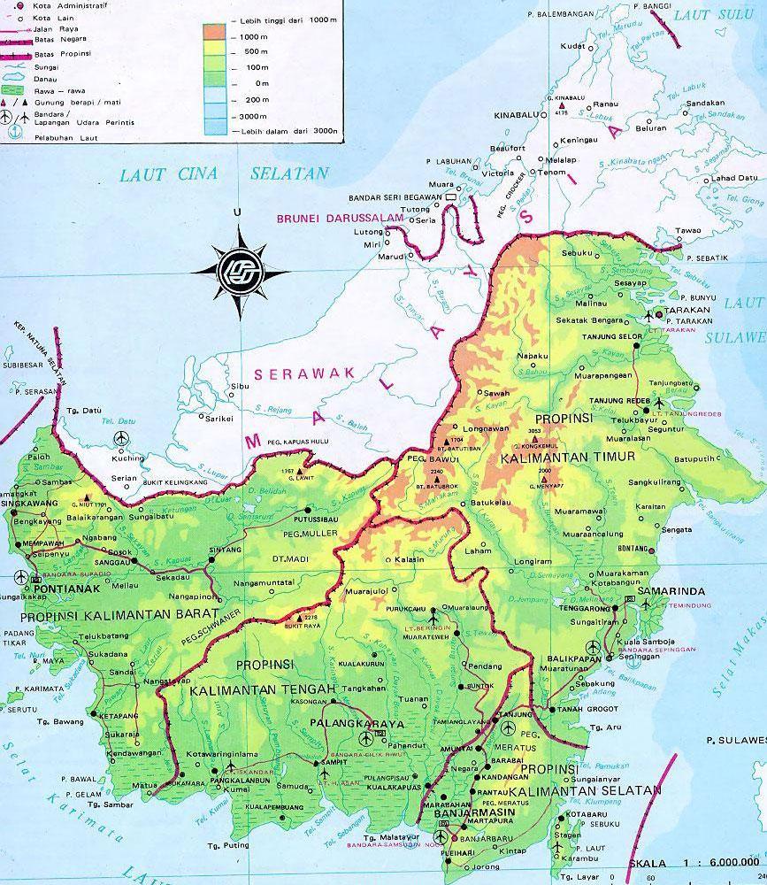 Калимантин. Третий по величине остров в мире, площадь 743 330 км².