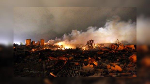 Взрыв на заводе в штате Техас унес жизни 14 человек, 160 раненных.