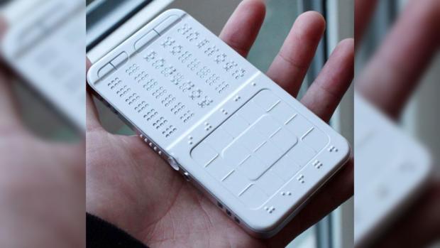 Смартфон, клавиатура Брайля, проблемы зрения