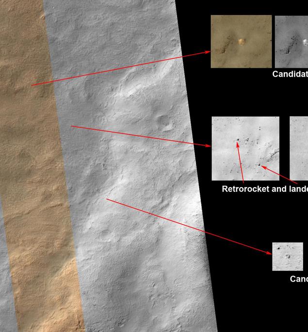 Остатки первого пришельца с Земли на Марс