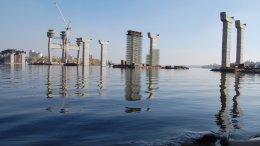 Строится два больших мостовых перехода через Днепр в Запорожье
