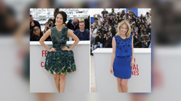 Актрисы с удовольствием демонстрируют модные наряды