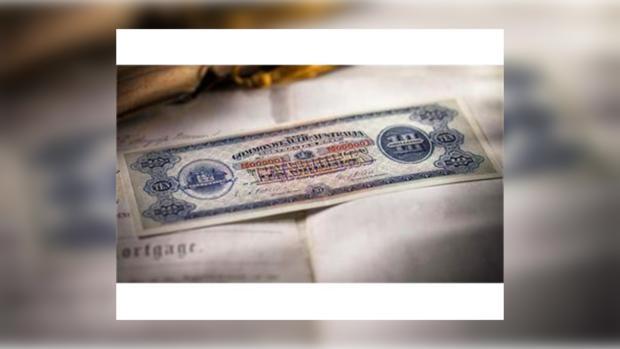 Первую банкноту Австралии продают за 3,6 млн долларов
