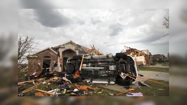 Вот так выглядит дом в Далласе после торнадо