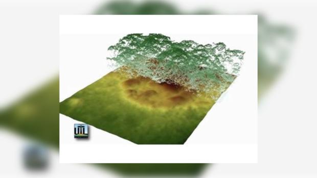 Снимки лесов Ла-Москитии сделанные сканером LIDAR