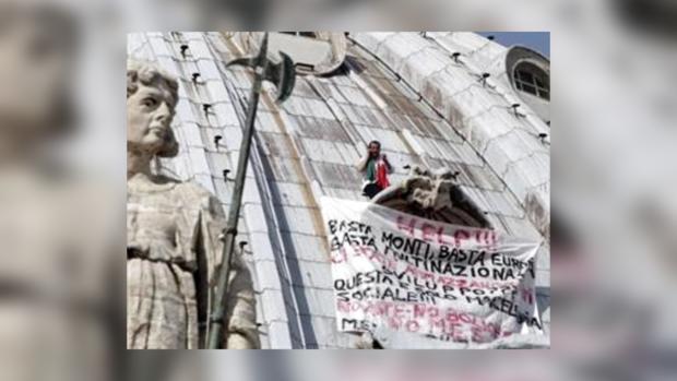 """Марчелло Ди Финицио на куполе базилики """"Святого Петра"""" в Ватикане"""