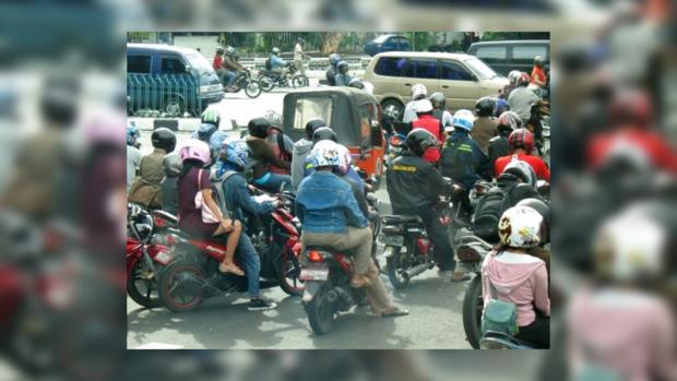 Пробка в Джакарте
