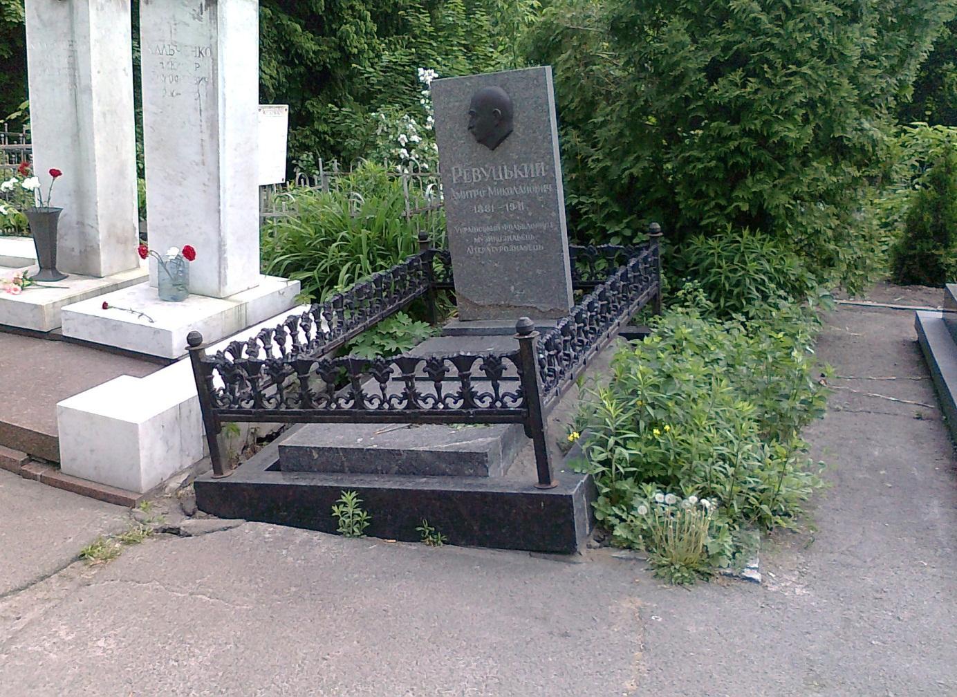 Могила Дмитрия Ревуцкого, 14 мая 2013 года