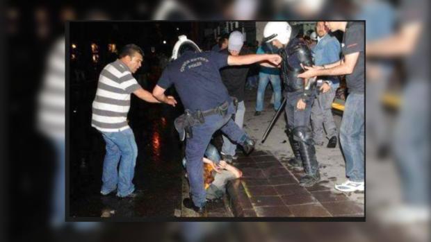 Полиция применяла к протестующим грубую силу