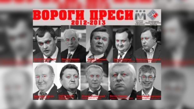 Врагами прессы стали представители власти и медийники.