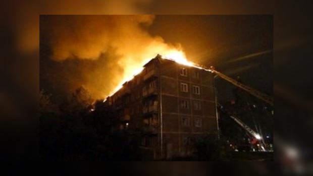 В Броварах горела пятиэтажка