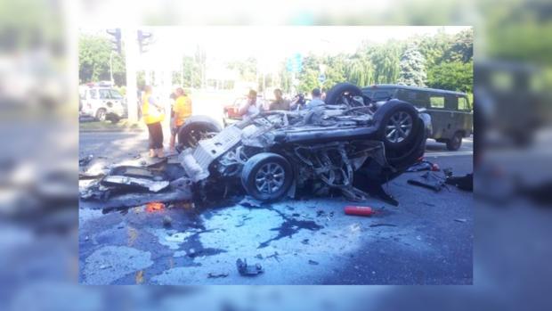 Страшная авария в Киеве на Интернациональной площади