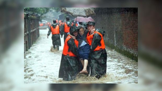 В Китае бушует водная стихия