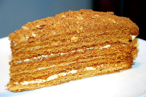 """Торт с заварным кремом """"Бабушкин рыжик"""""""