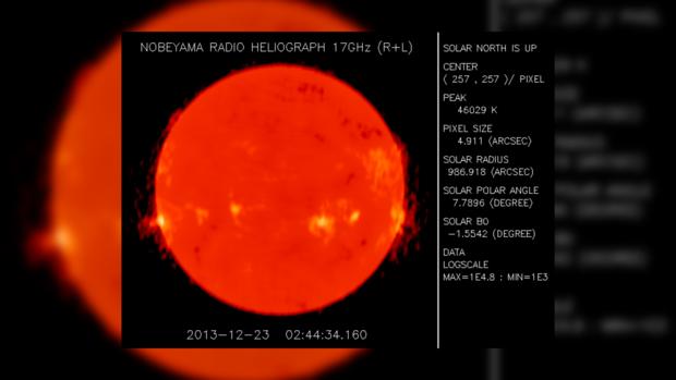 Изображение Солнца. Nobeyama Radioheliograph, Япония