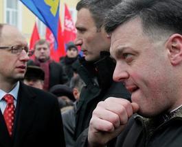 Митингующие в Киеве требуют от оппозиции решительных действий или сдать свои мандаты народных депутатов