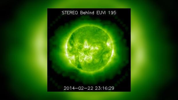 Вид Солнца за 22 февраля 2014 года не предвещает проблем на сегодня