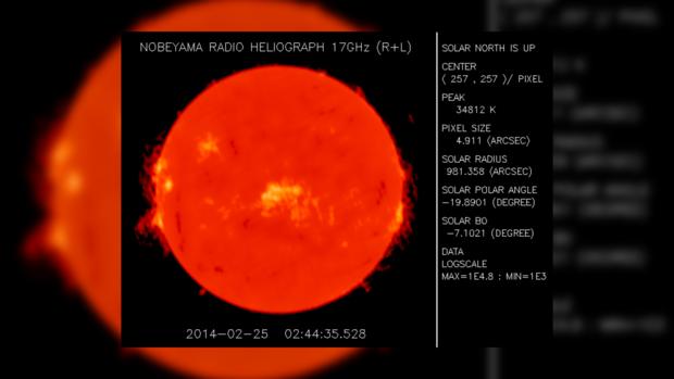 Вид Солнца за 25 февраля 2014 года не предвещает проблем на сегодня