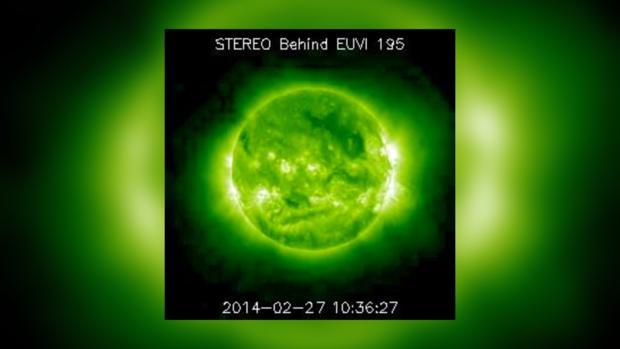 Снимок Солнца за 27 февраля 2014 года не предвещает проблем на сегодня