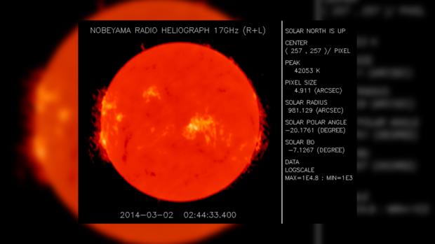 Снимок Солнца за 2 марта 2014 года не предвещает проблем на сегодня