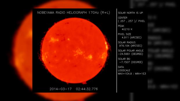 Снимок Солнца за 17 марта 2014 года не предвещает проблем на сегодня