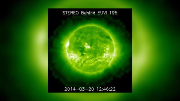 Снимок Солнца за 20 марта 2014 года не предвещает проблем на сегодня