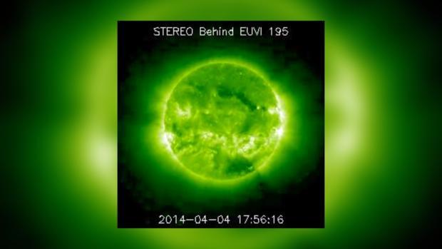 Снимок Солнца за 4 апреля 2014 года не предвещает проблем на сегодня