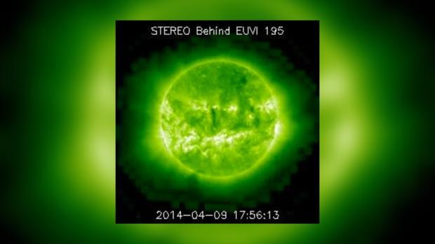 Снимок Солнца за 9 апреля 2014 года не предвещает неприятностей на сегодня