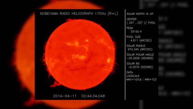 Вид Солнца за 11 апреля 2014 года не предвещает проблем на сегодня