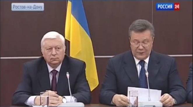 Пресс-конференция Януковича: беглый президент призвал новую власть не стрелять в народ.