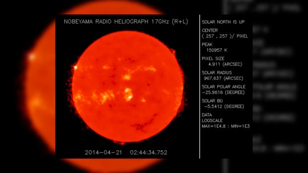 Снимок Солнца за 21 апреля 2014 года не предвещает неприятностей на сегодня