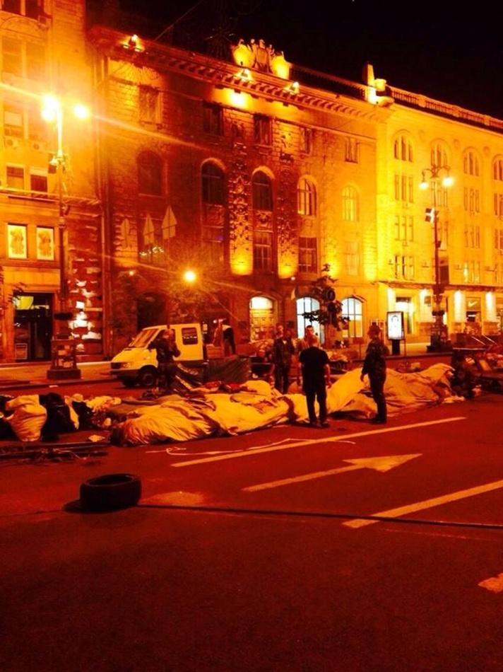 Ситуация в Киеве: на Майдане Незалежности разбирают палатки митингующих