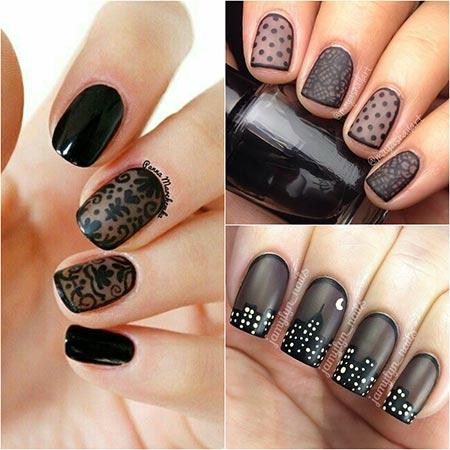 прозрачный дизайн ногтей: