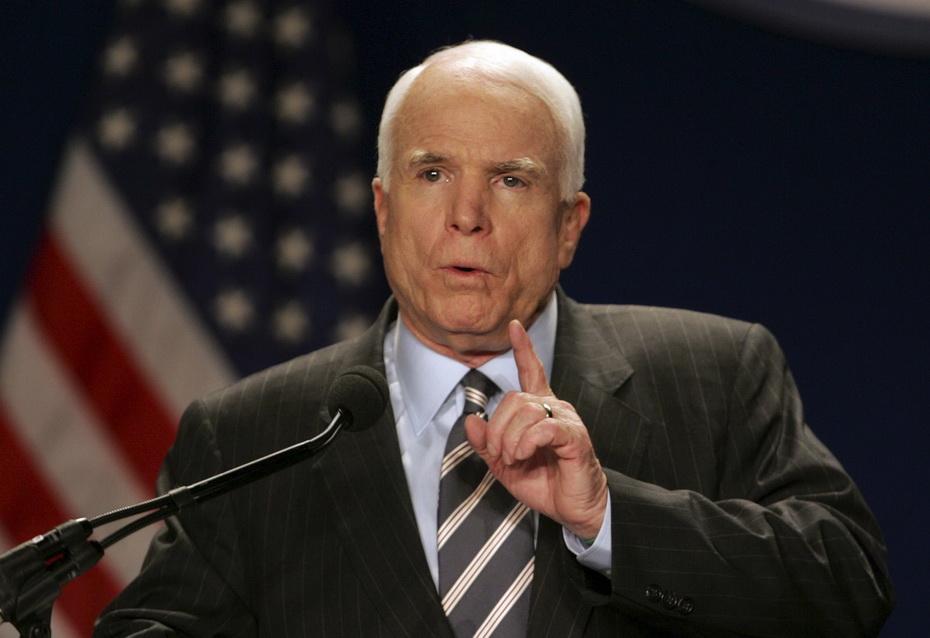 Сенатор Маккейн увидел в глазах президента Путина три буквы
