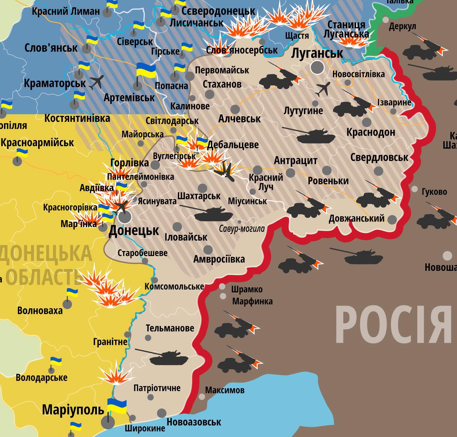 СНБО Украины вновь заявляет о переброске вооруженных сил РФ в Таганрог