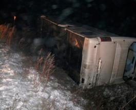 ДТП: на Тернопольщине перевернулся автобус с паломниками