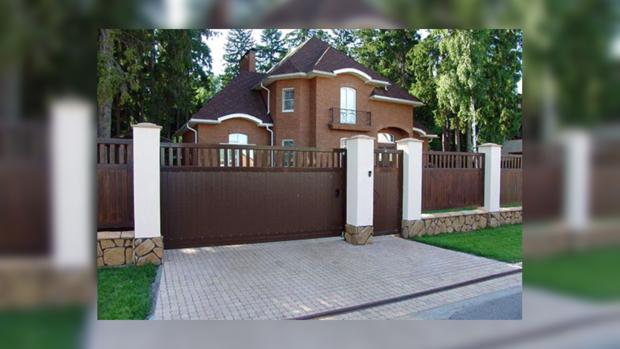 въездные ворота частного дома