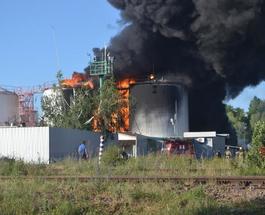 Пожар на нефтебазе под Киевом спровоцирует болезни легких и кислотные дожди - эколог