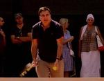 """Саакашвили """"виртуозно"""" сыграл в теннис на корте дворца Кивалова"""