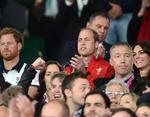 Кейт Миддлтон, принц Уильям и принц Гарри посетили Кубок мира по регби