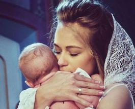 Яна Соломко показала трогательный снимок с крещения ребенка и рассекретила его пол