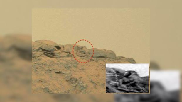 На Марсе увидели образ «Будды»
