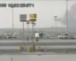 Опубликовано видео крушения самолета Ан-12 с российским экипажем
